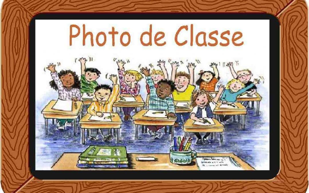 Les photos de classe sont là!