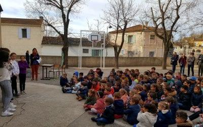 La semaine de la poésie à commencé à l'école NOTRE DAME de Caissargues.